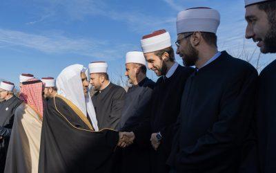 المشيخة الإسلامية وعمدة زغرب ووسائل الإعلام في كرواتيا أثناء احتفائهم بلقاء د.العيسى