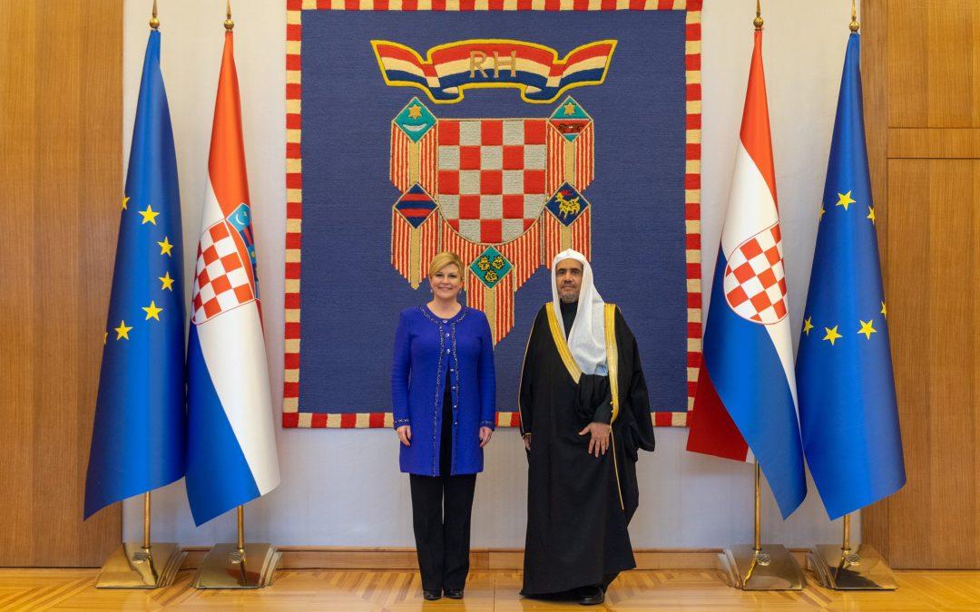 فخامة رئيسة جمهورية كرواتيا تستقبل معالي د.العيسى
