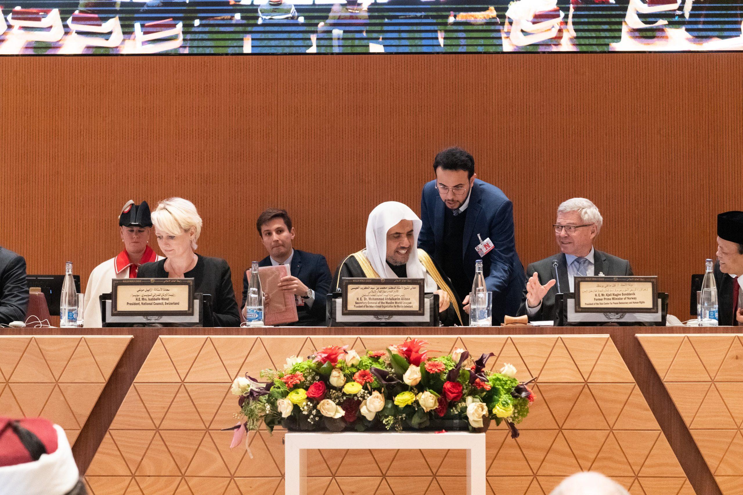 6 جلسات 44 متحدثاً دولياً ممثلون من عدة دول  يناقشون في مؤتمر رابطة العالم الإسلامي الذي دشنه معالي الشيخ د. محمد العيسى في الأمم المتحدة